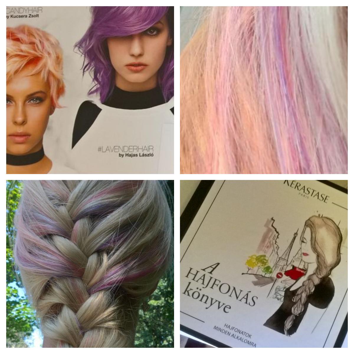 A mai napon egy fantasztikus Szalon szolgáltatást vehettem igénybe, pontosabban: a hajam :)<br /><br />A fodrászok miután megvizsgálták a hajszerkezetem, a Majirel gyönyörű szőke hajfestékével, egyenletes színűre varázsolták a hajam, tőfestést alkalmaztak, így a festék kb. 20 percig volt a hajamon. Ezután mosás, színrögzítő pakolás következett, majd az új SÉRIE EXPERT professzionális haj ápoló termék családjából a BASE alapot kevertük össze a LIPIDUMMAL, ez a pakolás  kb 5 percig volt a hajvégeken. Mosás következett ismét és a vizes! hajamra került fel a 3 gyönyörű COLORFUL hajfestéke, a PINK a LAVENDER és a PEACH színek.<br /><br />Amennyiben kedvet kaptál, és szívesen készítettnél te is magadnak, ragyogó színű hajat, látogass el a Salon expert valamelyik fodrászatába:  http://loc.salon-expert.hu/<br /><br />Köszönet a L'oreal Professionnelnek!<br />