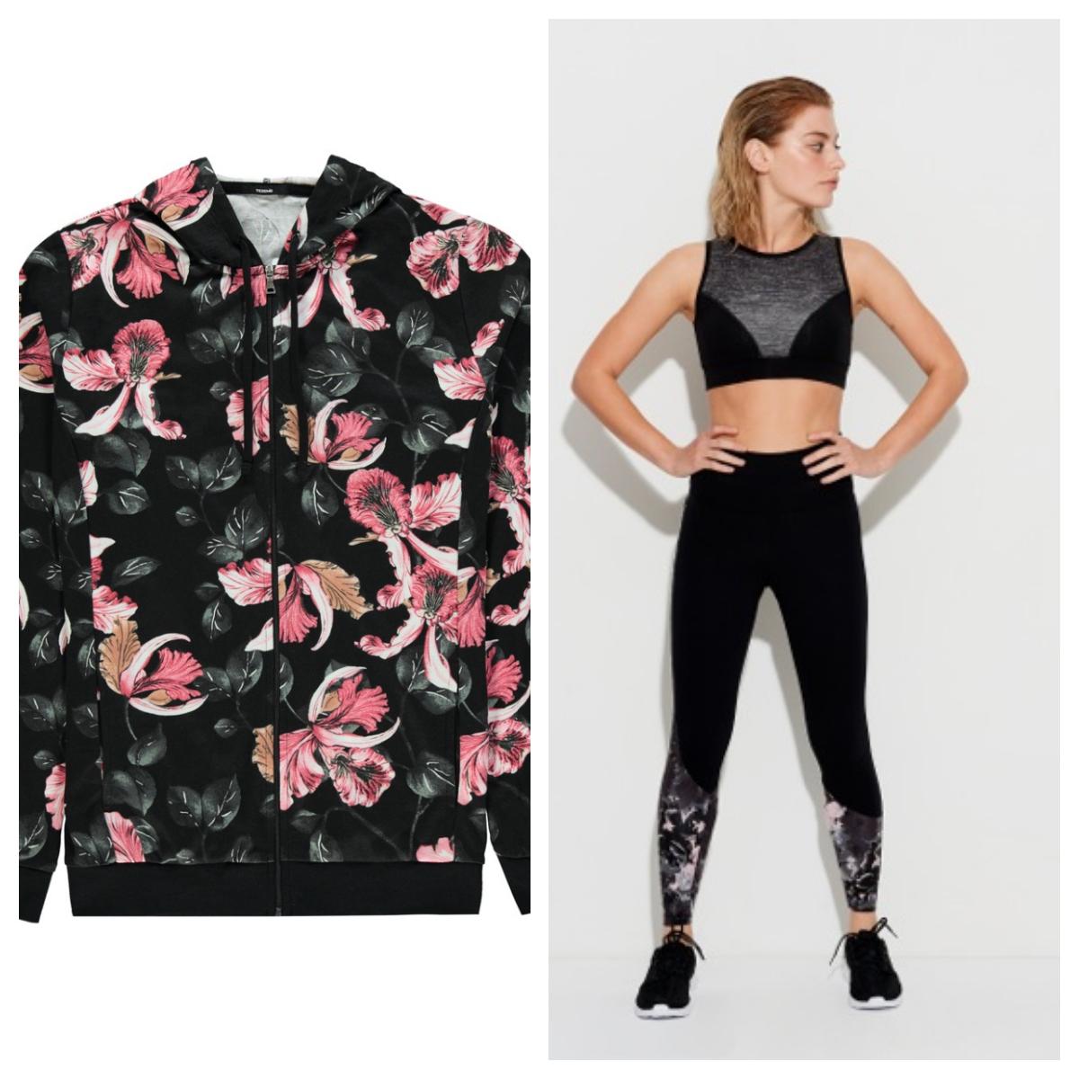 A virágmintás sportmelltartók városi hangulatúak, hordhatóak és kívánatosak, friss, urbánus viseletek, míg a virágos body valódi kötelező darab. Tökéletes minden fitness tevékenységhez, függetlenül attól, hogy spinningezel vagy futsz. <br />Minden, ami a sokoldalú edzéshez szükséges, megtalálható a kollekcióban, beleértve a pulóvereket, trikókat, leggings-eket és jogger-nadrágokat. Minden darab Instagram-kész, trendi sötét rózsaszín, fekete és a szürke árnyalataival; ideálisak divat- és fitneszblogger számára egyaránt.<br />
