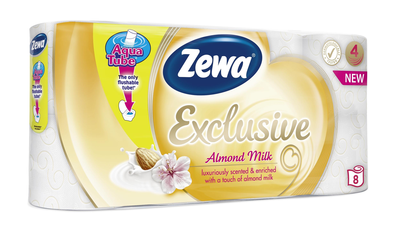 A Zewa mandulatejjel átitatott toalettpapírjai prémium élményt varázsolnak az otthonokba.<br />Új termékkel bővítette toalettpapír portfolióját a Zewa, az ápoló mandulatejjel átitatott Zewa Almond Milk 4 rétegű toalettpapír testet és lelket kényeztető illatával és puhaságával a valódi luxus élményét nyújtja a fürdőszobában.