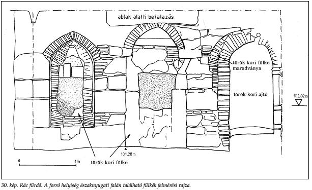 Az előző feltárási rajza (Papp - Lászay, 2009)