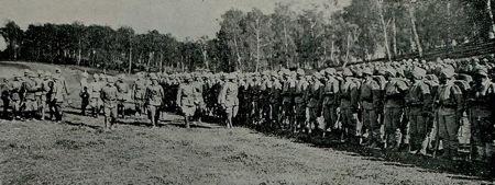 Vilmos császár látogatása, Tarnopol közelében (Imperial War Museum, turkeyswar.com)