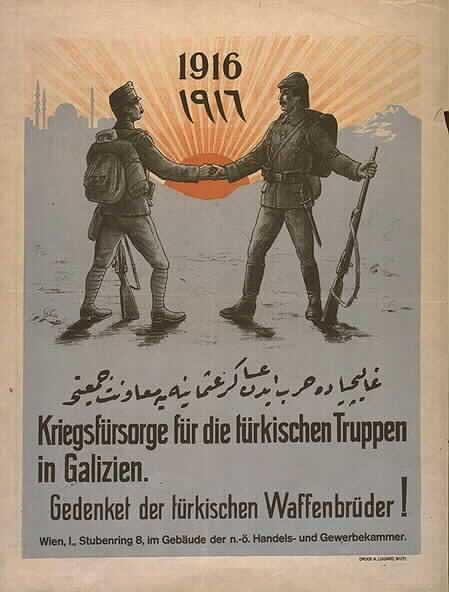 Kétnyelvű plakát a frontról (wikipedia.com)