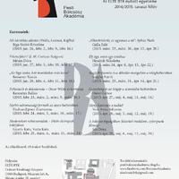 A Pesti Bölcsész Akadémia tavaszi félévének plakátja
