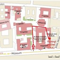 A helyszín a Campus térképén