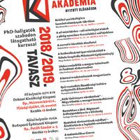 A Pesti Bölcsész Akadémia 2018/2019. tavaszi félévének plakátja