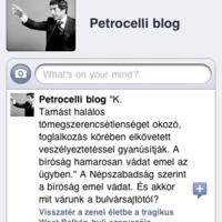 Szolgálati közlemény: Petrocelli Facebookon is