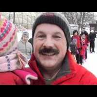 A jégpálya megnyitóján készült videó