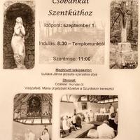 GYALOGOS ZARÁNDOKLAT  - Csobánkai Szentkúthoz