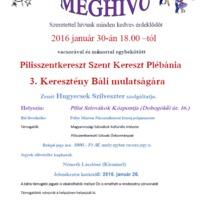 III. Keresztény Bál - Meghívó - 2016. 01. 30.