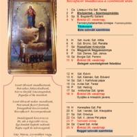 Októberi liturgikus naptár