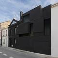 Párizsi lakóház feketén-fehéren