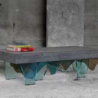 Concreto, beton üvegszilánkon