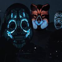 Zenére reagáló LED maszkok