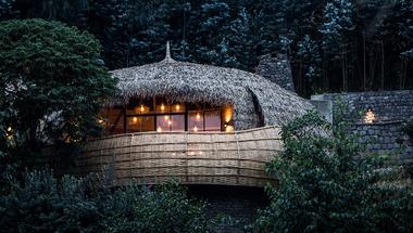 Bisate Lodge, szálláshely vulkánok és gorillák között