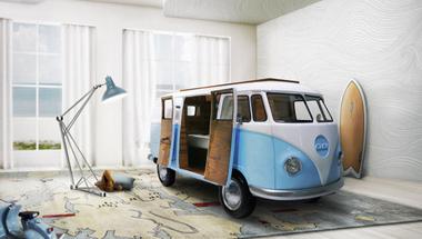 VW busz ihlette gyerekágy