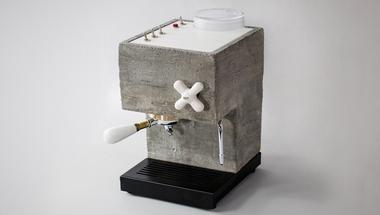 Eszpresszógép szokatlan anyagokból