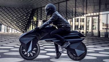A világ első, teljes egészében 3D nyomtatott elektromos motorkerékpárja