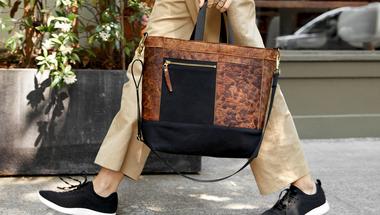 Mylo táska, bőr helyett gombafonal