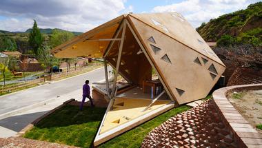 Interaktív ház, ami reagál a hőmérséklet változásokra