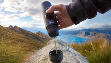 Minipresso a hordozható, kültéri kávéfőző