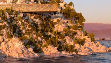 Mugu ház, sziklára telepített koncepció