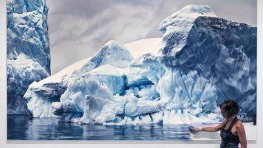 Antarktisz realisztikus, pasztell képeken