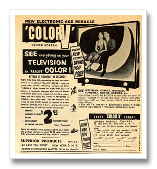 Faux color TV ad - 1958.png