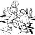 A rendőr faszát nem kedvtelésből szopta