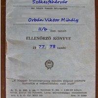 Megtaláltuk Orbán Viktor éppen 15 éves korában elveszett ellenőrző könyvét
