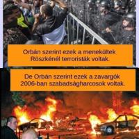 Orbán, ha a röszkei zavargók terroristák, akkor a 2006-os csőcselék mi volt?!