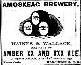 világ legelső sörreklámja Amoskeag