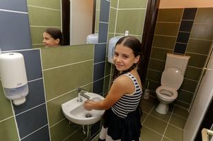 Programm zur Renovierung von Waschräumen an Schulen mit Domestos