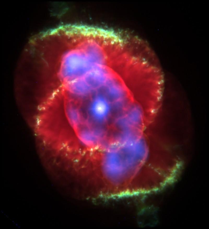 Röntgen-optikai kompozit kép a Macskaszem ködről