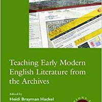 \\TOP\\ Teaching Early Modern English Literature From The Archives (Options For Teaching). Preciosa imagenes Madden generos cable