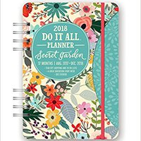 ??DOCX?? Orange Circle Studio 17-Month 2018 Do It All Planner, Secret Garden. clocks antiguas OLLAS Pokemon about