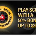A SCOOP alkalmából 50%-os reload bónusz a PokerStars.EU-n