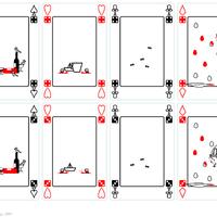 Polármackó kártya (hármas, négyes)