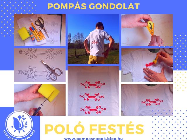 Sablon és leírás kézzel festett pólóhoz fiúknak a Népviselet Napjára