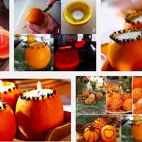 Narancshéj gyertya