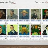 Van Gogh-portrék bélyegen