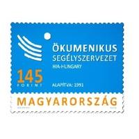 Alkalmi bélyeg a Magyar Ökumenikus Segélyszervezetnek