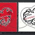 Barátság, szerelem - bélyegen