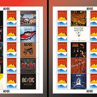 Bélyegeken a 45 éves AC/DC!
