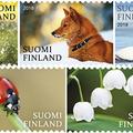 Finn természeti jelképek bélyegen