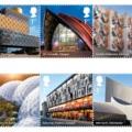 Az építészet legjava bélyegen