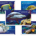 A Nagy-Korallzátony élővilága bélyegen