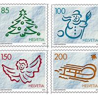 Életre keltett svájci bélyegek