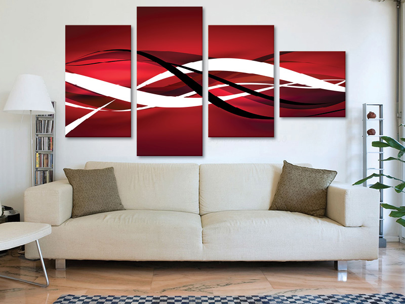 4 részes vászonkép. Forrás: www.falikepek.hu