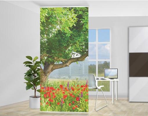 Tavaszi rét design fotó térelválasztó függöny nappaliba