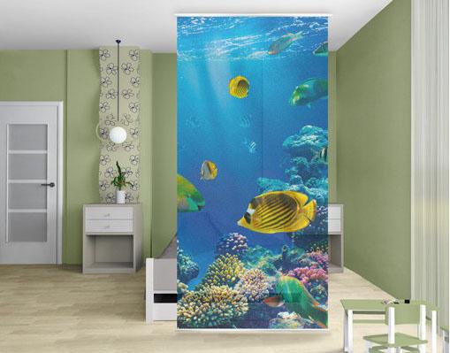 Akvárium design fotó térelválasztó függöny fürdőszobába